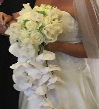 Bouquet Sposa Con Orchidee.Bouquet Cascante Con Orchidee E Rose Bouquet Da Sposa Orchidea