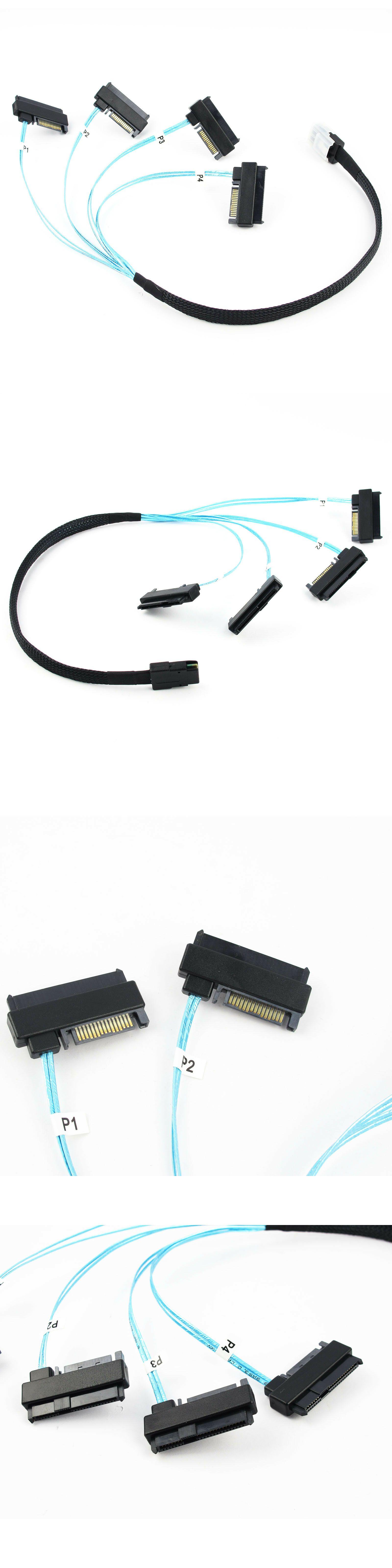 Details About Mini Sas 36p Sff 8087 To 4 Sff 8482 Connectors With Sata Power Cable Power Cable Sff Connectors