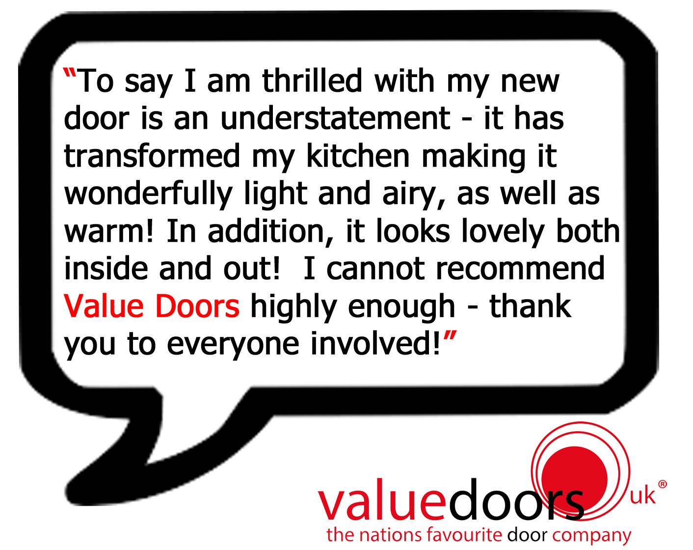Another amazing review from a lovely customer! http://www.valuedoors.co.uk/reviews
