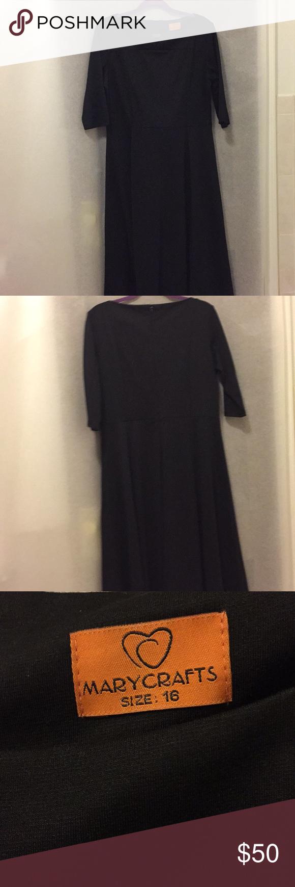 3 20 Mary Crafts Black Dress Plus Size Black Dress Clothes Design Dresses [ 1740 x 580 Pixel ]