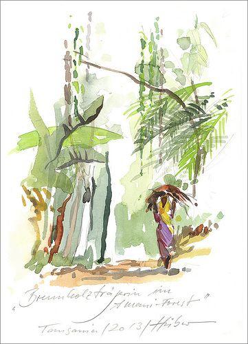 Brennholzträgerin,Tansania 2013 - Jens Hübner