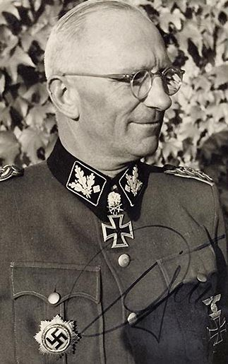 """Pinner: """"Otto Gille, a winner of the Knight's Cross with Oakleaves, Swords and Diamonds and of the German Cross in Gold, was the most highly decorated member of the Waffen SS during World War II. By the end of the war he held the rank of SS-Obergruppenfuhrer und General der Waffen-SS. Highly popular among his troops, he survived the war and died in 1966."""""""