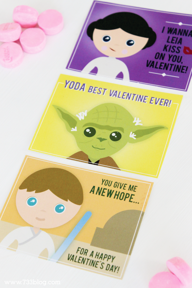 Star Wars Inspired Printable Classroom Valentines