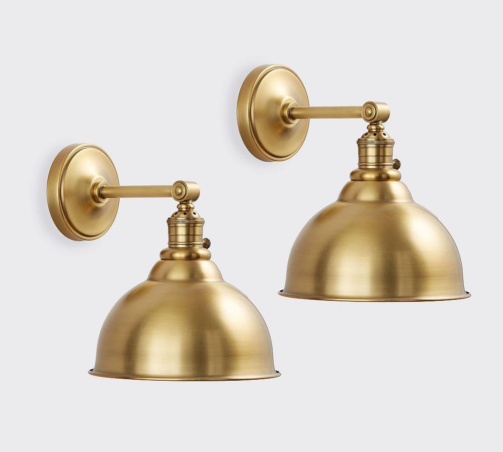 Custom Straight Arm Metal Bell Sconce Sconces Brass Light Fixture Bronze Sconces