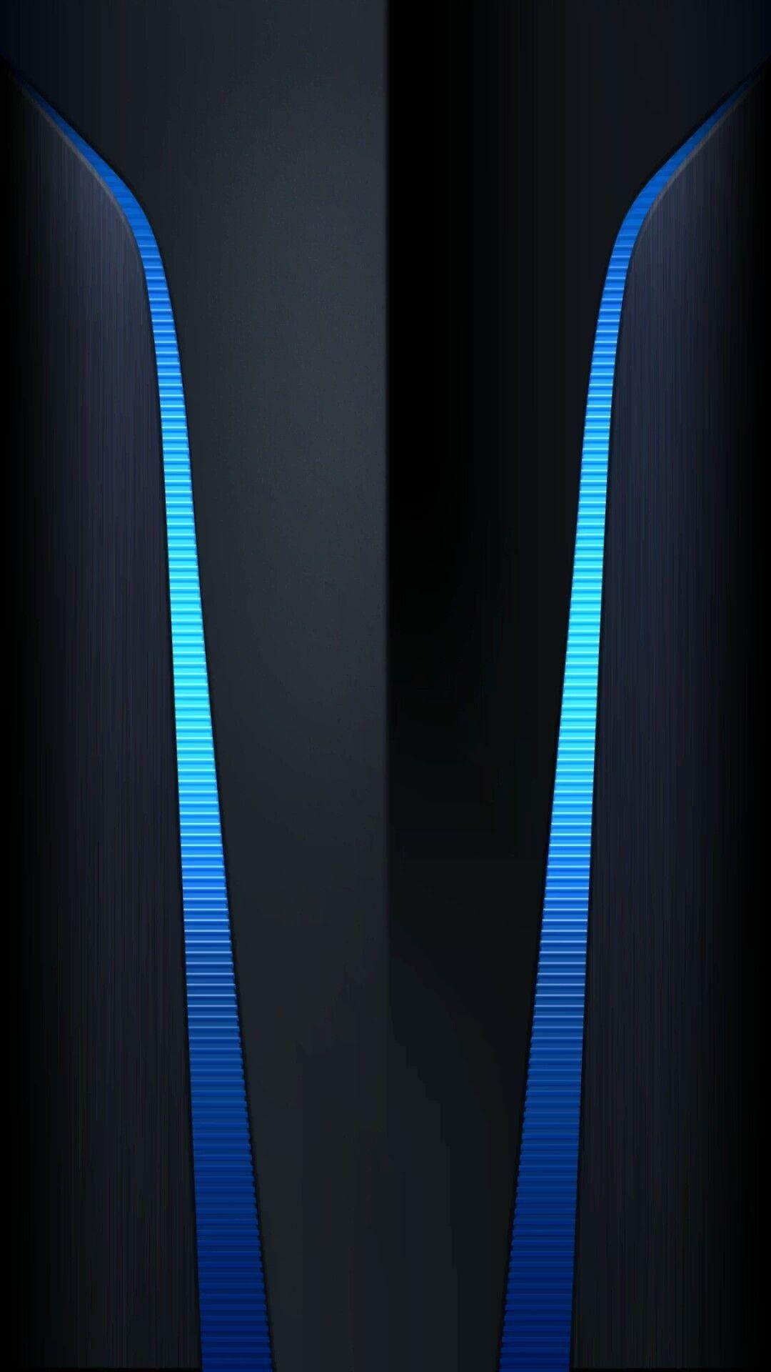 Navy With Neon Blue Abstract Wallpaper Seni Digital Wallpaper