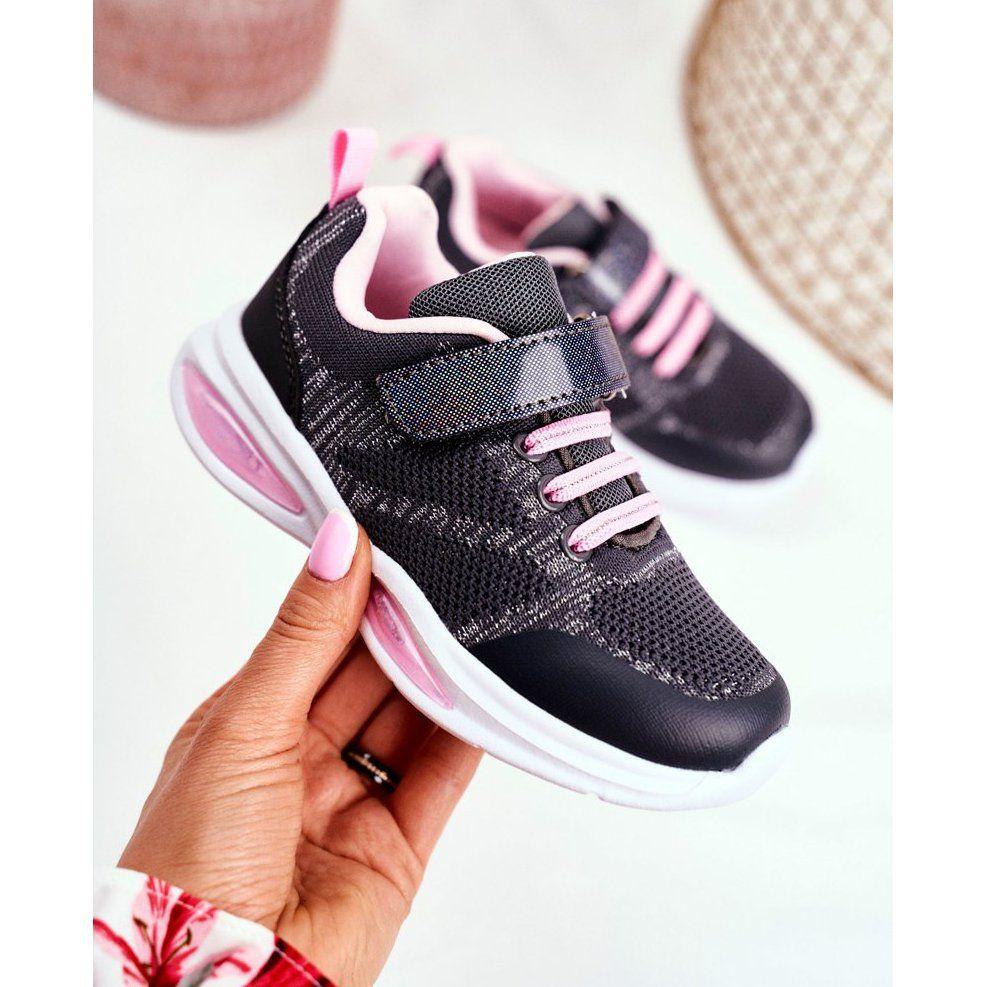 Eve Sportowe Buty Dzieciece Swiecace Na Rzepy Szare Simple Way Rozowe Air Max Sneakers Sneakers Nike Nike Air Max