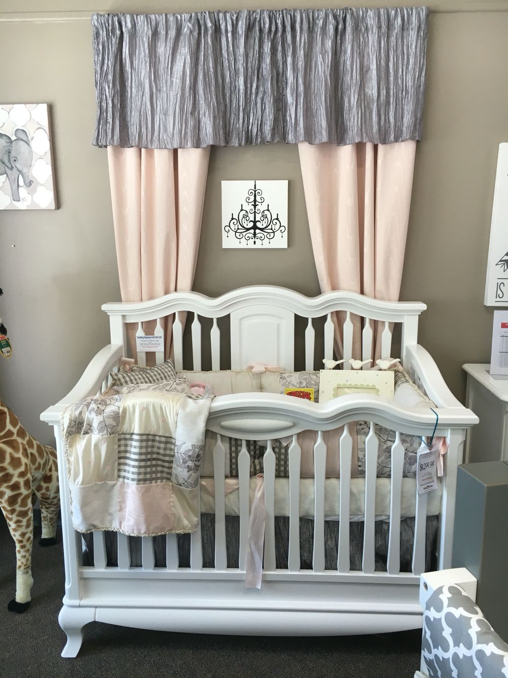 bumper aqua crib and at green in with a pink ruffles floral display pin on cribs romina