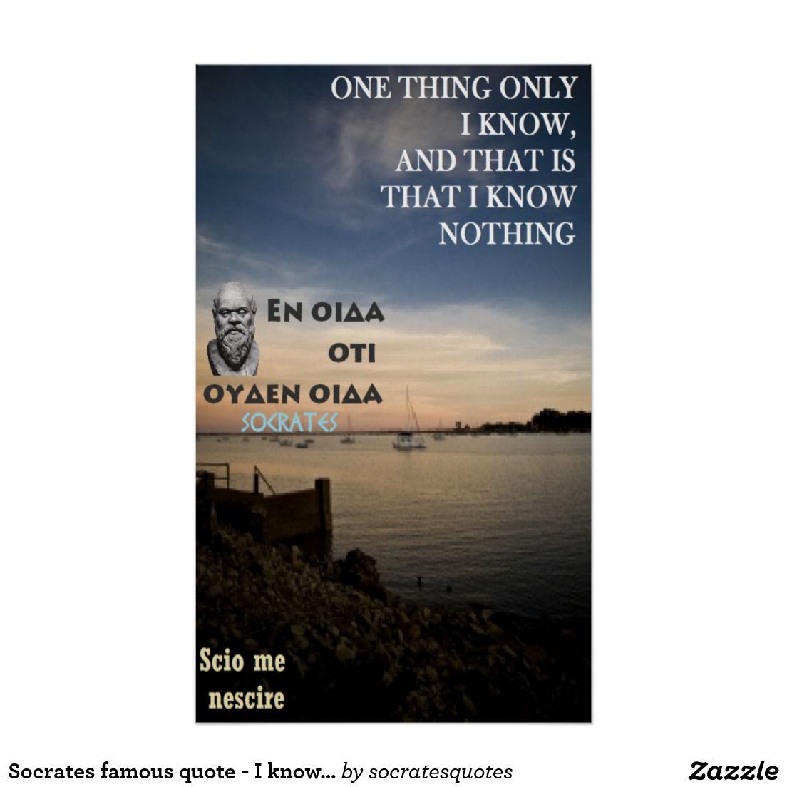 One Thing Only I Know And That Is That I Know Nothing Socrates