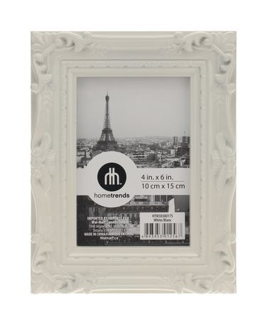 4x6 Gloss White Baroque Photo Frame Walmart Ca Frame Photo Frame Wall Gallery