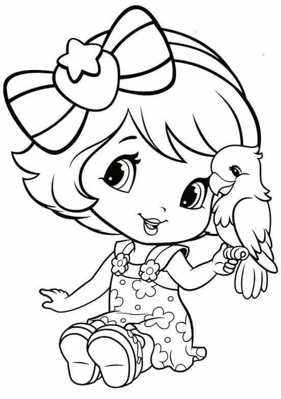 Strawberry Shortcake | Coloring pages | Pinterest | Colorear, Dibujo ...