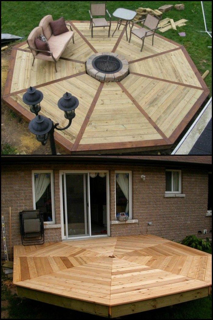 How To Build An Octagonal Deck Diy Projects For Everyone Unique Outdoor Spaces Deck Designs Backyard Decks Backyard