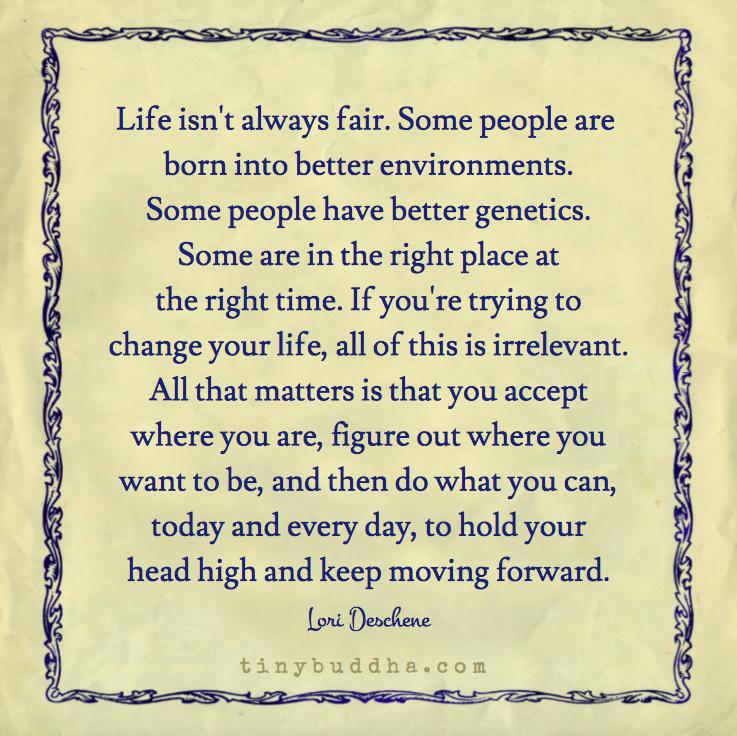 Life Isnt Always Fair Yoga Quotes Inspiration Tips Tiny