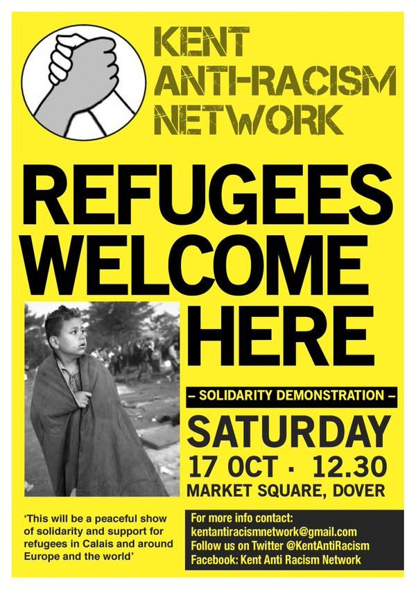 AFN is supporting @KentAntiRacism 'Refugees Welcome Here' demo in Dover on Sat 17th facebook.com/events/8983124… Come! RT!