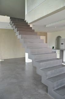 beton falttreppe beton cire beschichtung sichtbetontreppe wohnen pinterest treppe. Black Bedroom Furniture Sets. Home Design Ideas