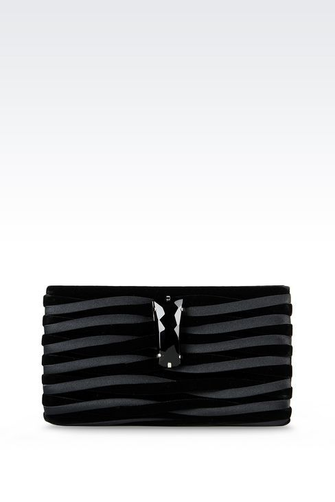 4ce7af8dc4 Giorgio Armani Women Clutch Bag - CLUTCH IN VELVET AND CUPRO Giorgio Armani  Official Online Store