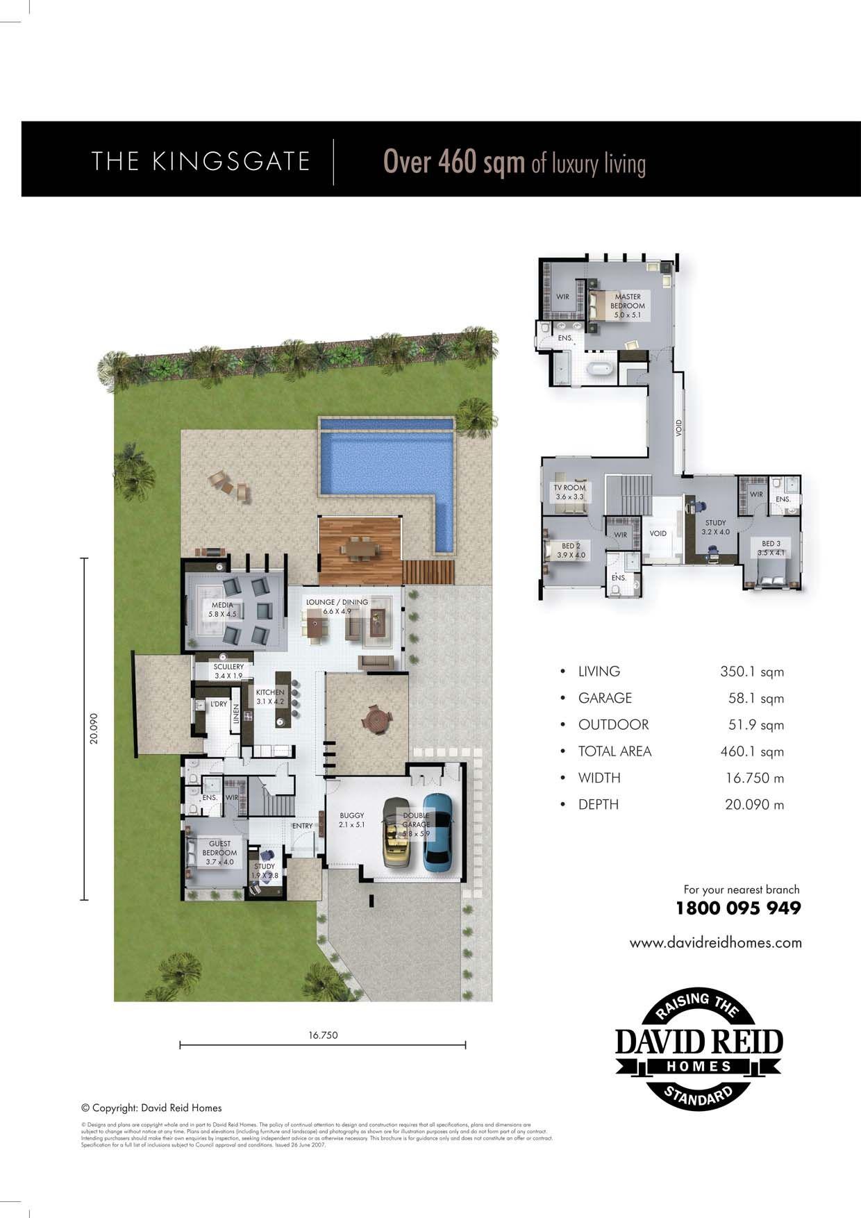 The Kingsgate Floor Plan Concept Range David Reid Homes Australia Luxury Custom Home Builder Floor Plans Concept Home Custom Home Builders