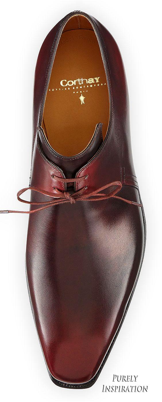 3607f23effb Corthay Arca Calf Leather Derby Neiman Marcus