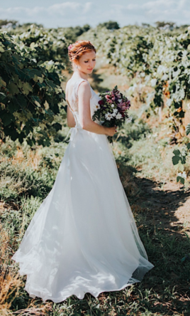 Davids Bridal Illusion Lace Tank Wedding Dress With Tulle Skirt Currently For Sale At