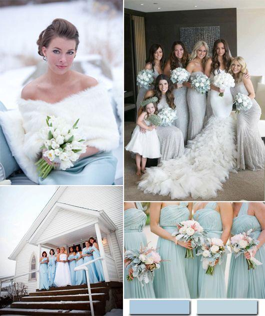 Hot Winter Hochzeit Farbkombinationen: Eisblau & weiß oder Silber ...