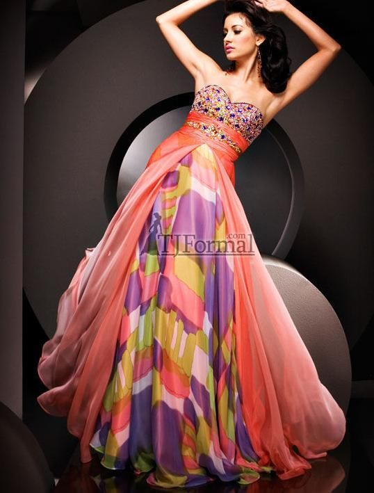 The picture above is one of Tony Bowls prom dresses collection ...