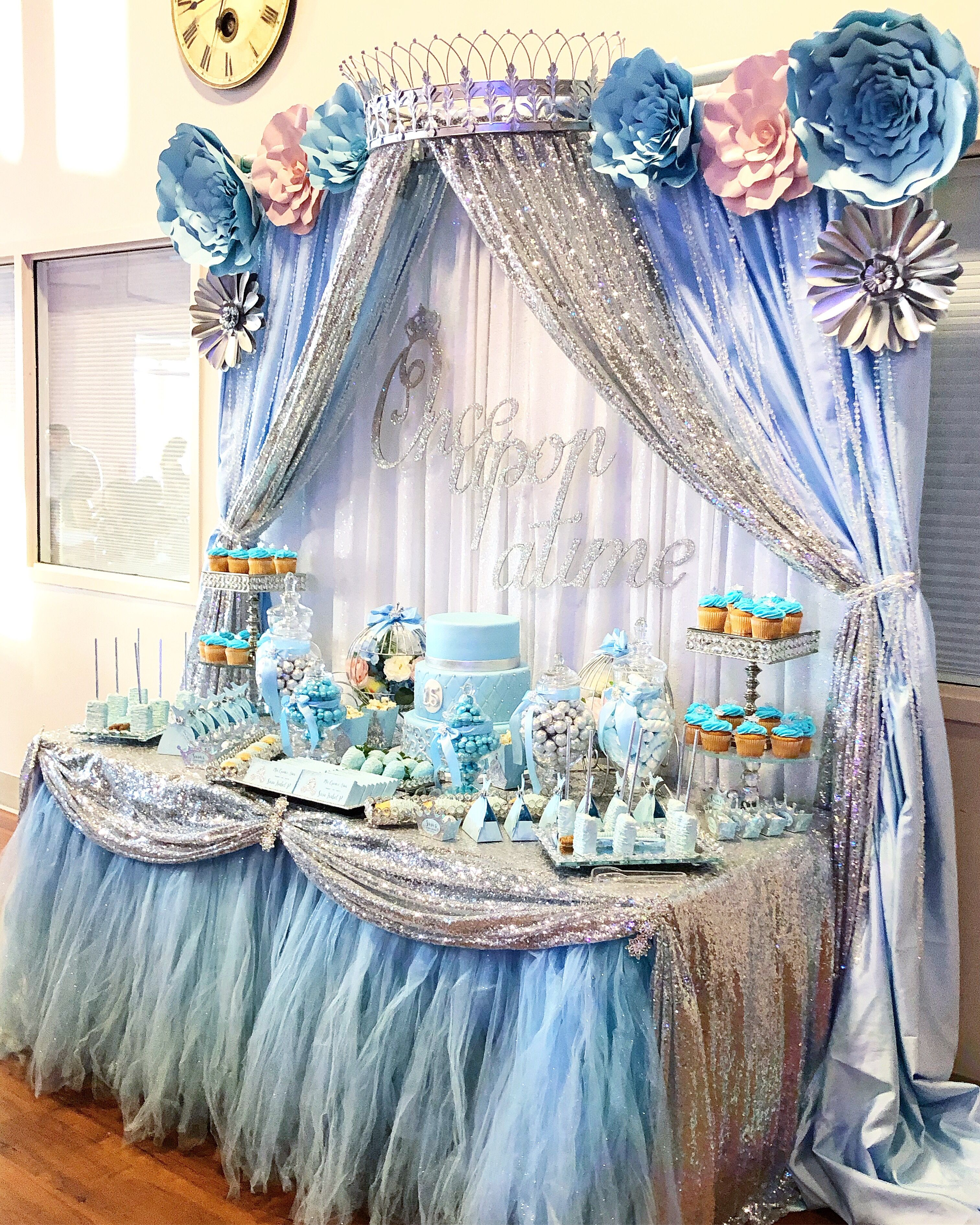 Pin By Creations By Martha On Cinderella Quinceanera Cinderella Quinceanera Themes Cinderella Birthday Party Cinderella Birthday Party Centerpieces