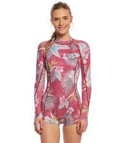 Billabong Women s 2mm Mas Tropical Back Zip Long Sleeve Spring Suit Wetsuit 115c2d002