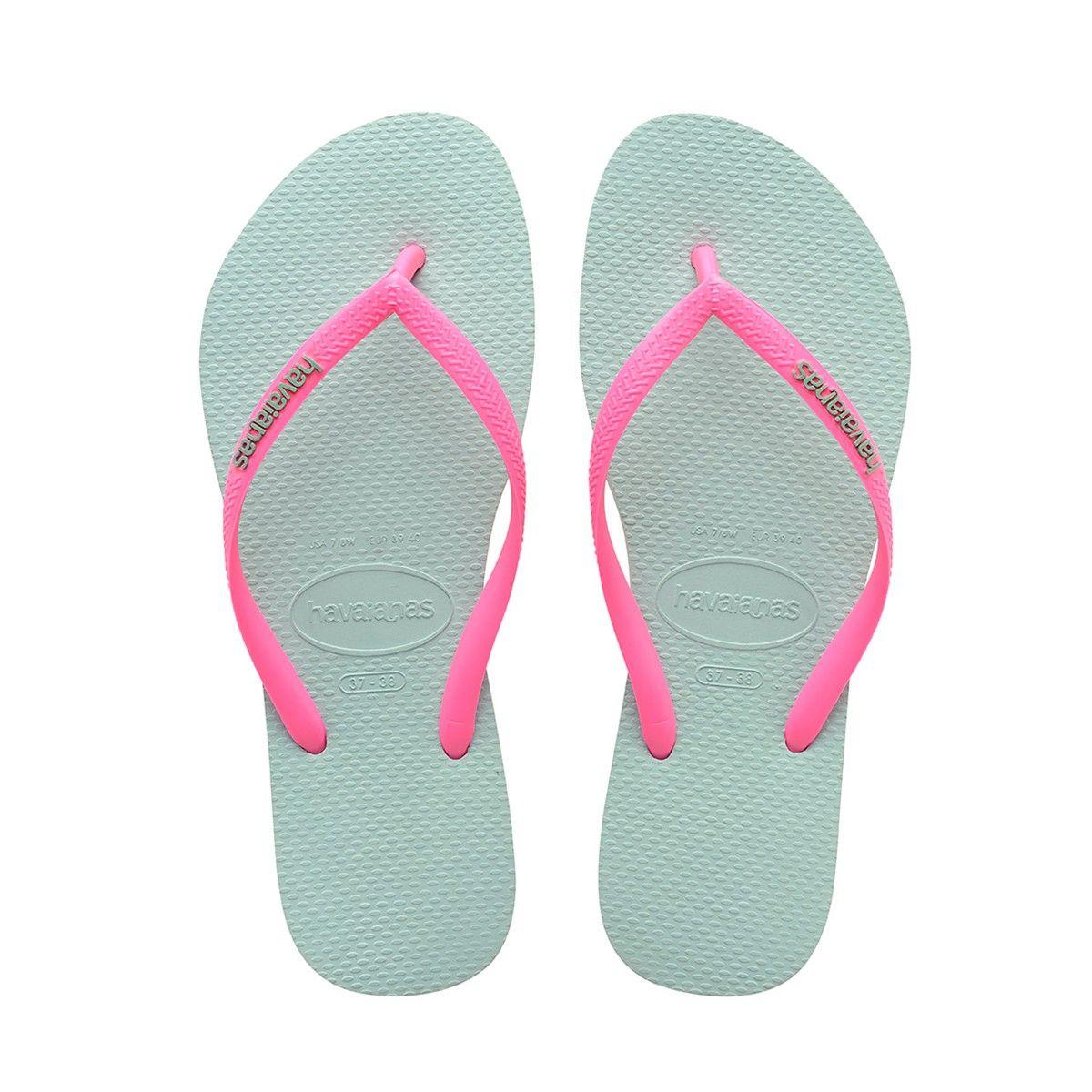 564bc6f0c HAVAIANAS SLIM LOGO POP UP SANDAL MENTHA GREEN.  havaianas  shoes  all
