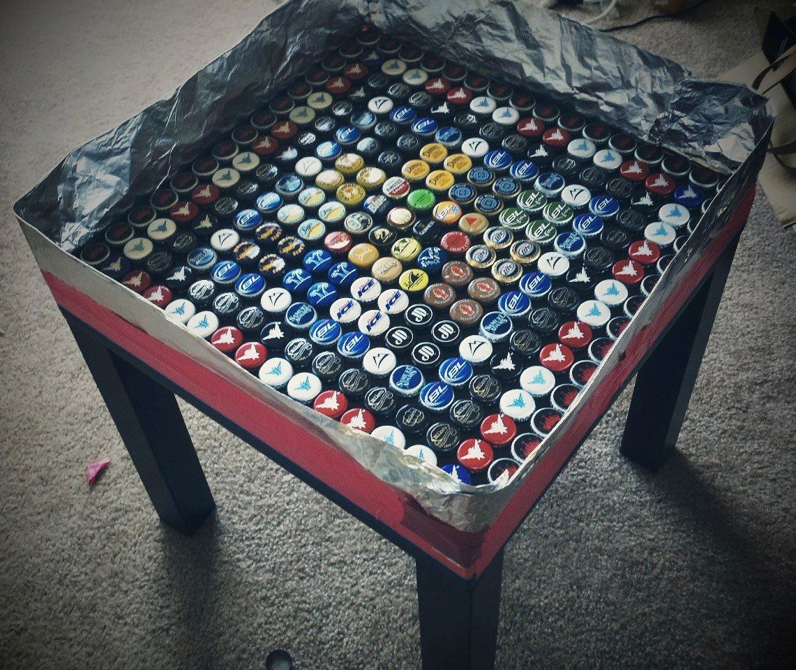 bottle cap furniture. ikea hackers lack bottlecap table bottle cap furniture o