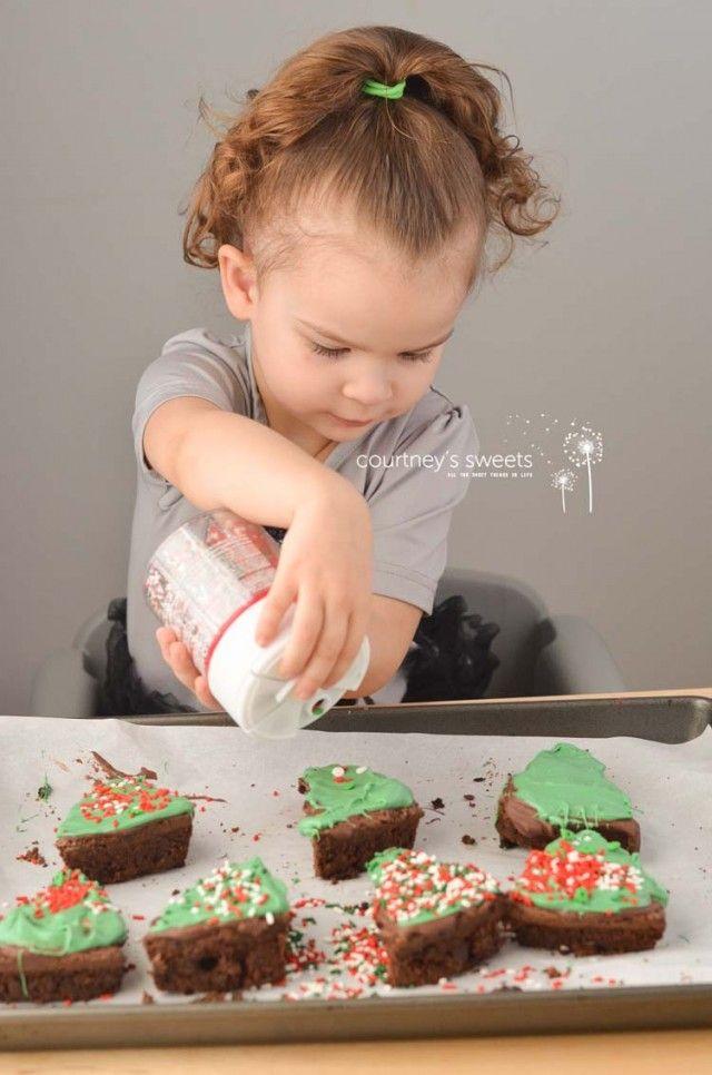 Christmas Tree Holiday Brownies Fun Kid Friendly Recipe Idea for the Holiday Season + a great Gift Idea!