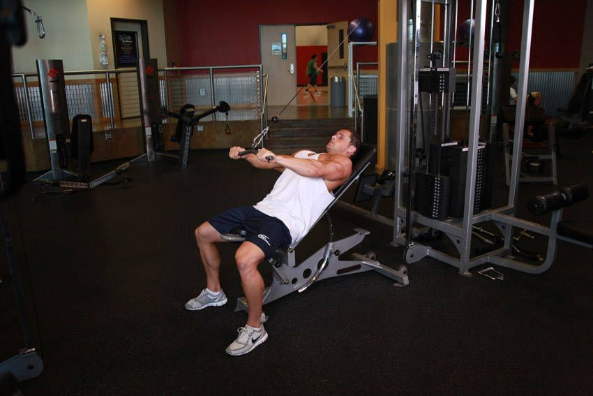 Cable Incline Push Down Could Use Resistance Bands At Home