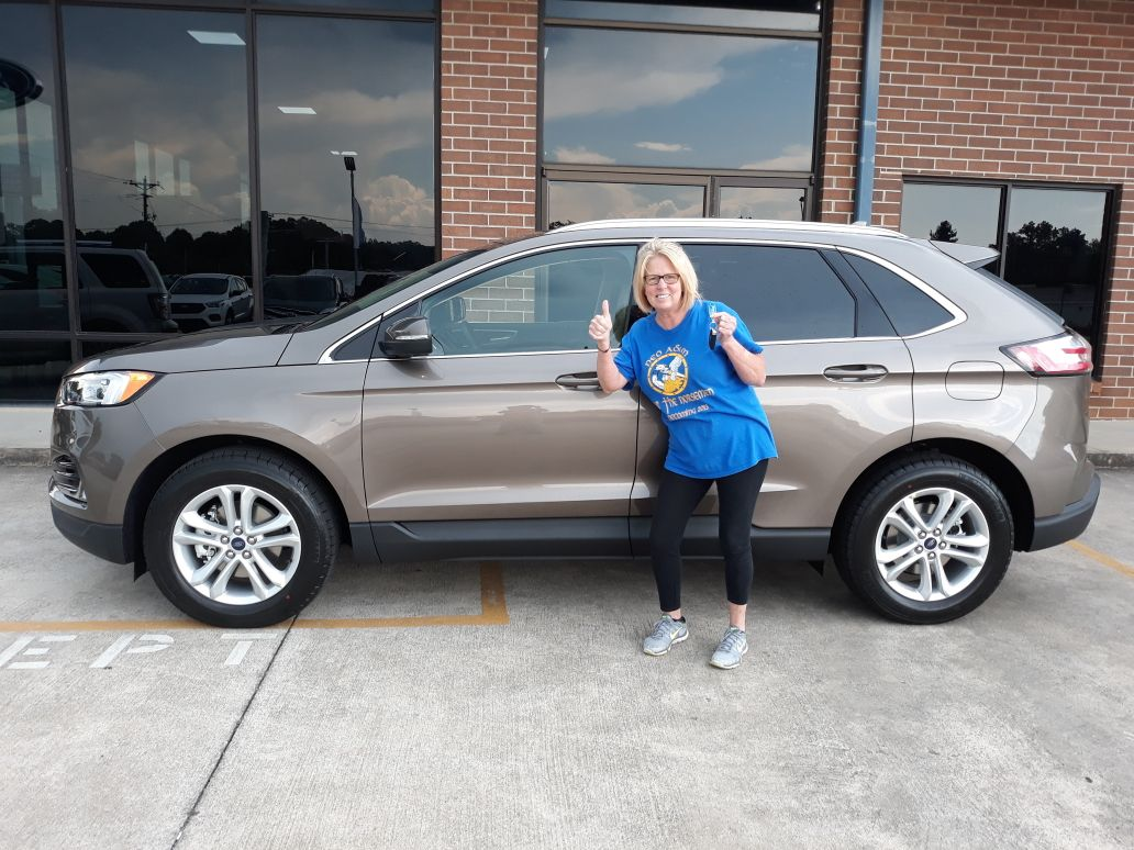 congrats debra davis of chatsworth ga on your brand new 2019 edge sel sold by brian smith we know you re going to love it ford news things to sell car ford pinterest