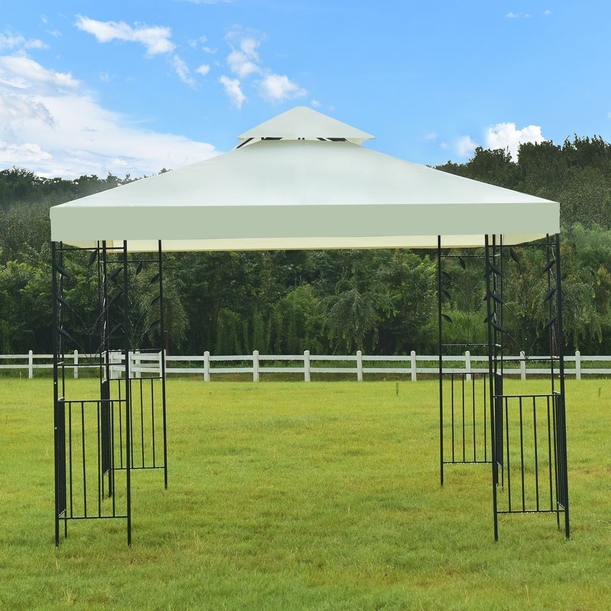 10 X 10 Wedding Party Canopy Tent 138 95 Free Shipping Material Steel Fabric Plastic Net Weight 60 Lbs Overall Dimen Gazebo Party Canopy Canopy Tent