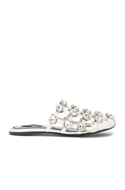 ccfdd11669db07 ALEXANDER WANG Jeweled Leather Amelia Slides.  alexanderwang  shoes ...