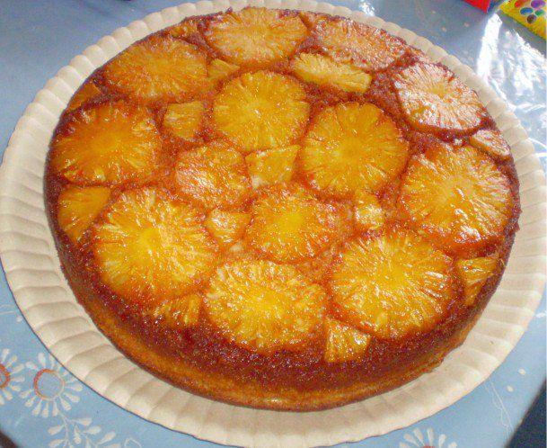 Torta Invertida De Abacaxi Bolo De Abacaxi Receitas De Torta De