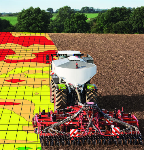 Variable rate technology (VRT): ability to adapt parameters on a machine to apply, for instance, seed or fertiliser according to the exact variations in plant growth, or soil nutrients and type.