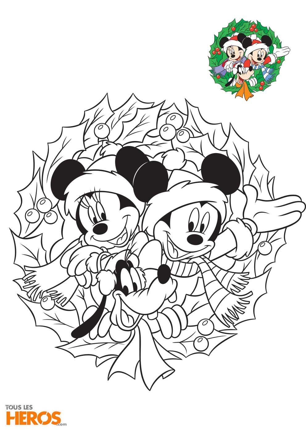 Mickey et Minnie préparent les fêtes de fin d'année ! Coloriez-les ici !
