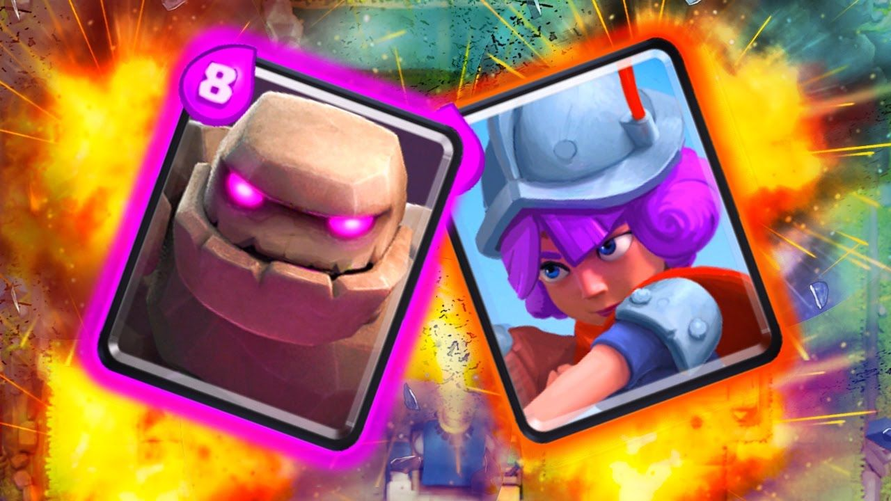 Musketeer Golem Power Deck 100 Magical Chest Gemming Clash Royale With Images Clash Royale Magical Deck