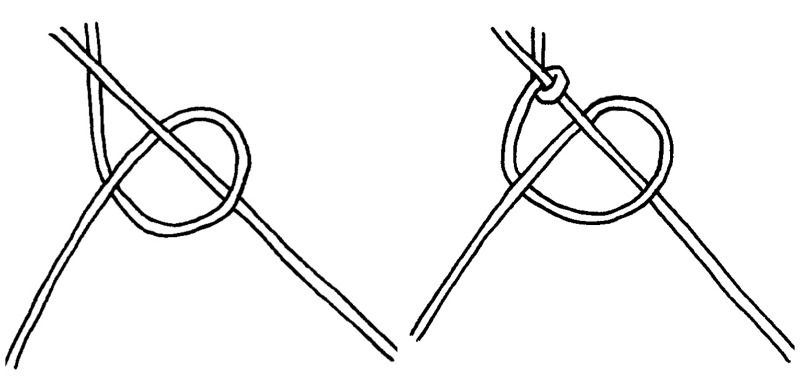 How to tie a double half hitch knot and create a small