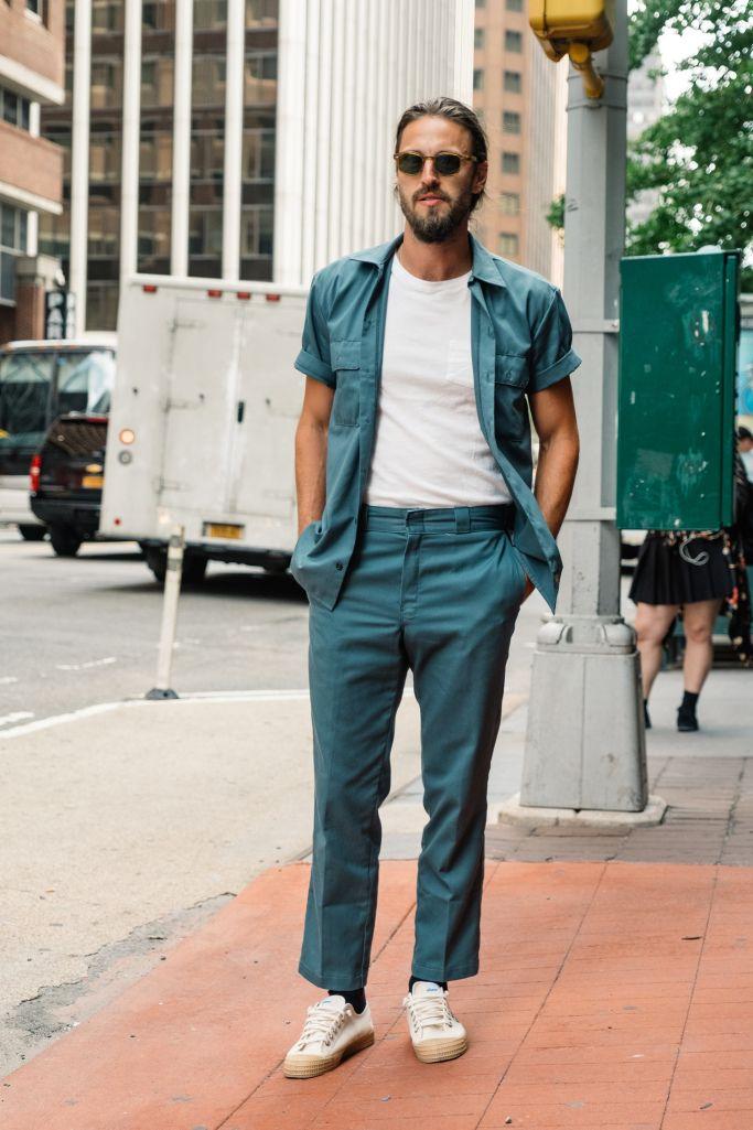 Street style at New York Fashion Week Men's Spring 2018