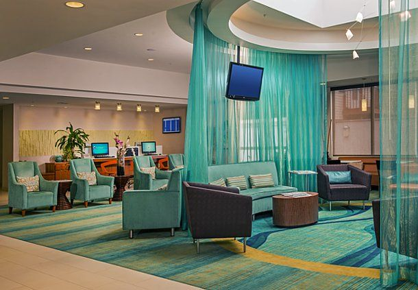 Springhill Suites New York Laguardia Airport Lobby Hotel Enjoy Traveling