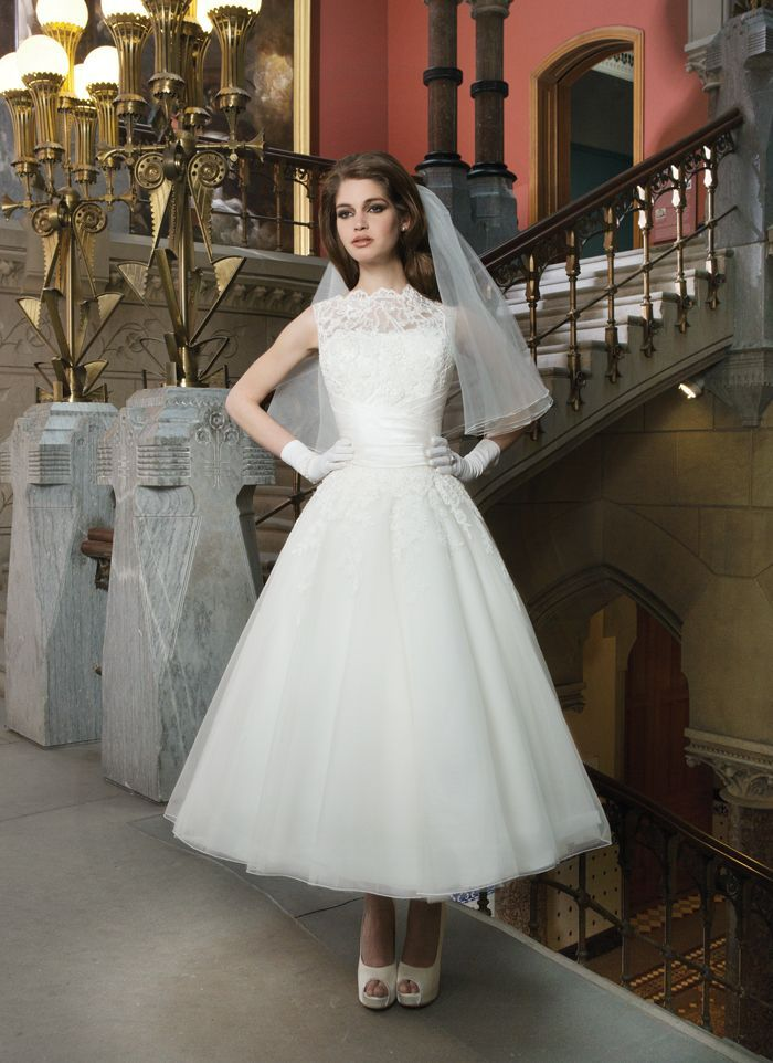 Justin Alexander Tea Length Wedding Dress 8706