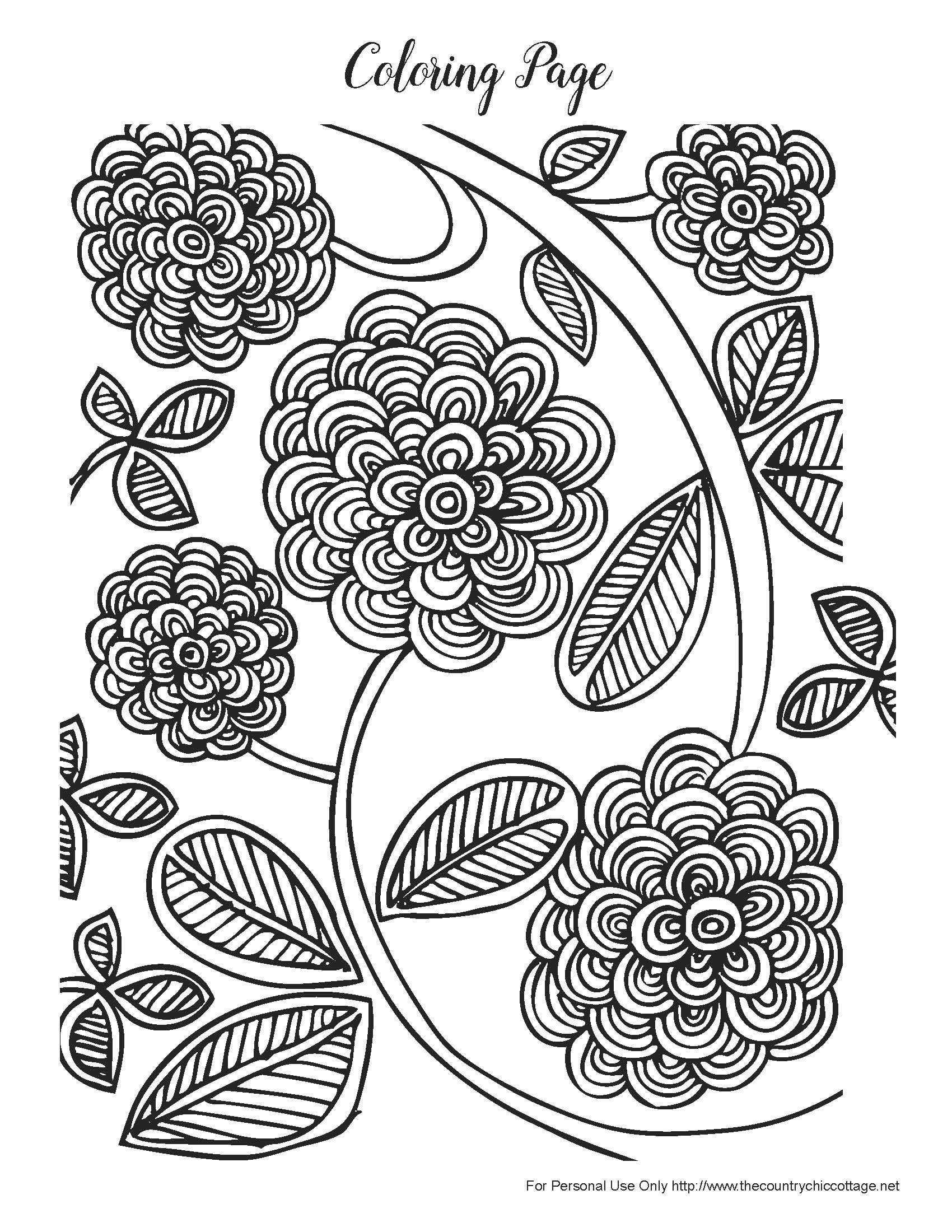 Free Spring Coloring Pages For Adults Spring Coloring Pages