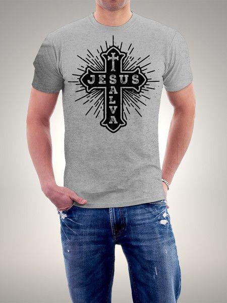 Camiseta Jesus Salva  470bb2d998c