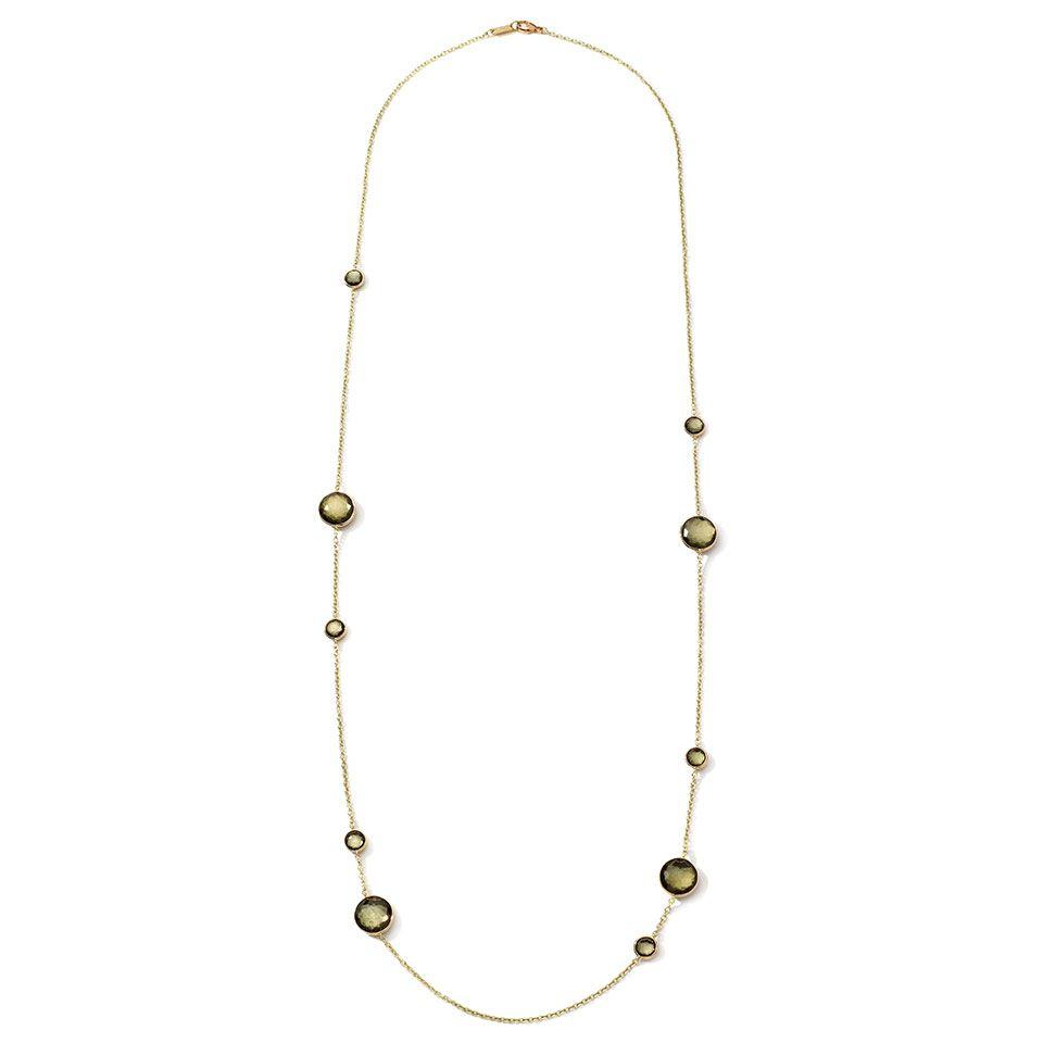 #Ippolita 18K #Gold Rock Candy Lollipop Station #Necklace in #Green Gold #Citrine & #Pyrite Doublet