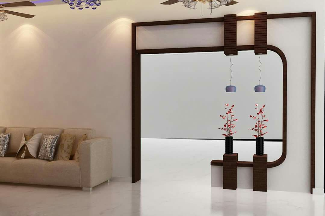Pin by ruchi minhas on designs in 2019 partition design - Wall stencil ideas for living room ...