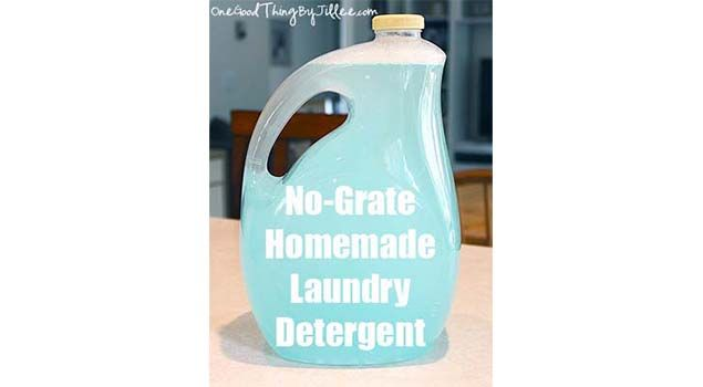 How To Make Your Own No Grate Liquid Laundry Detergent Homemade