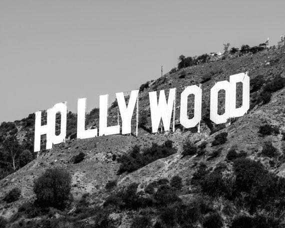 Hollywood Wall Art Black Wall Art Hollywood Print Hollywood