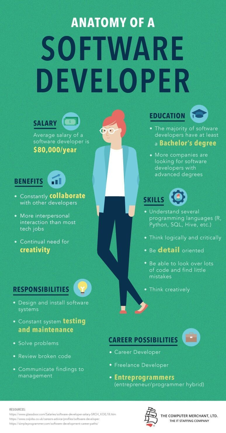 Anatomy Of A Software Developer Infographic So Much Of What We Do