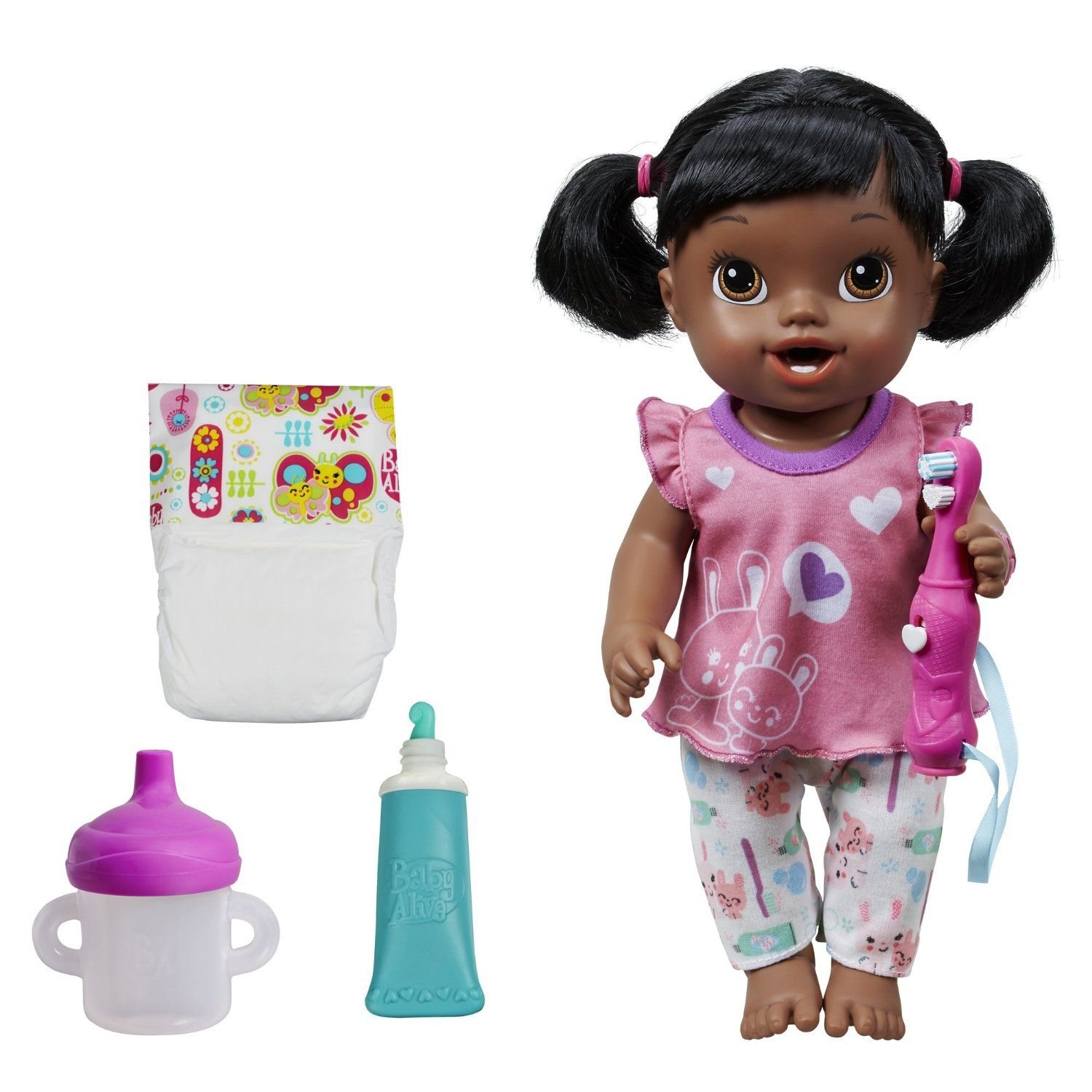 Amazon Com Baby Alive Brushy Brushy Baby Doll African American Toys Games Baby Alive Fake Baby Dolls Baby Alive Dolls