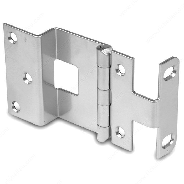 3 4 Overlay Institutional Hinge For Doors With A Thickness Up To 1 3 8 Richelieu Hardware Offset Hinges Hinges Chrome Finish